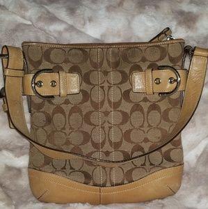 Tan coach bag
